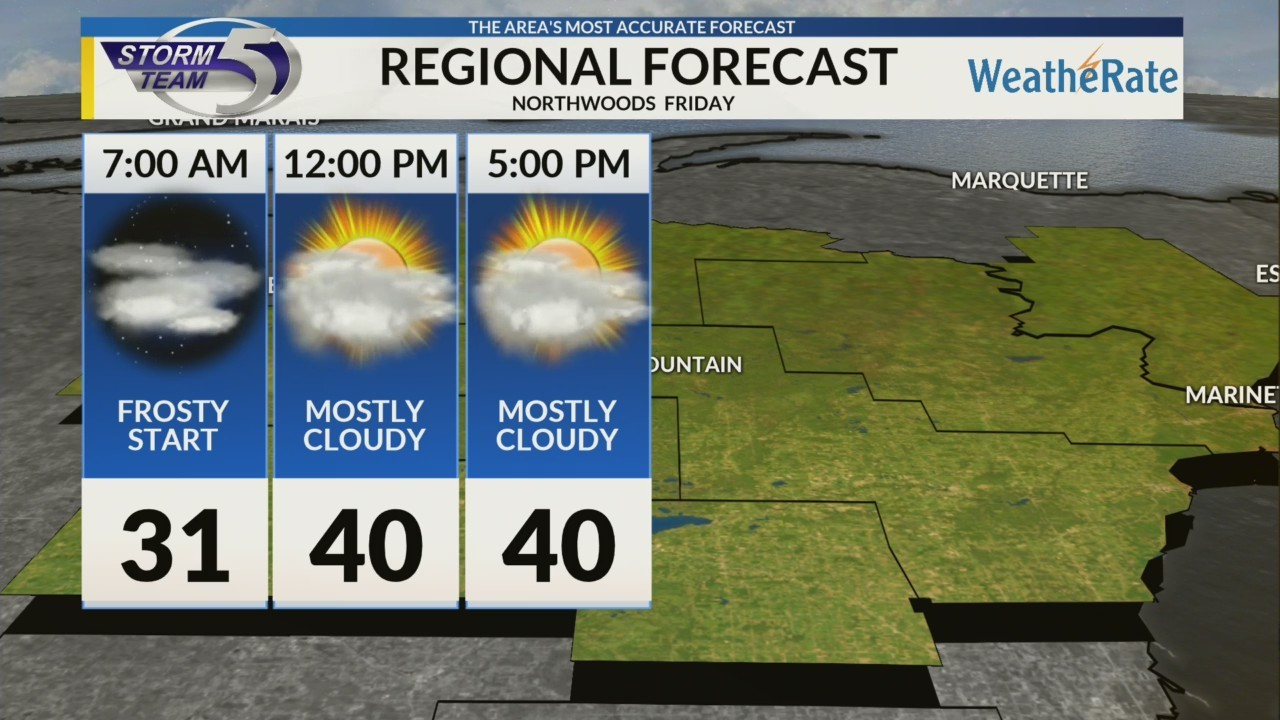 Regional Forecast: Northwoods 10/12/2018