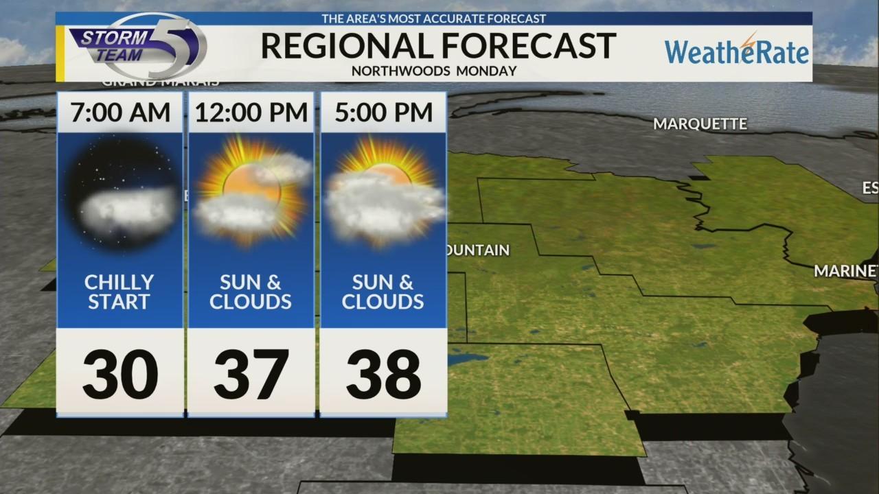 Regional Forecast: Northwoods 10/15