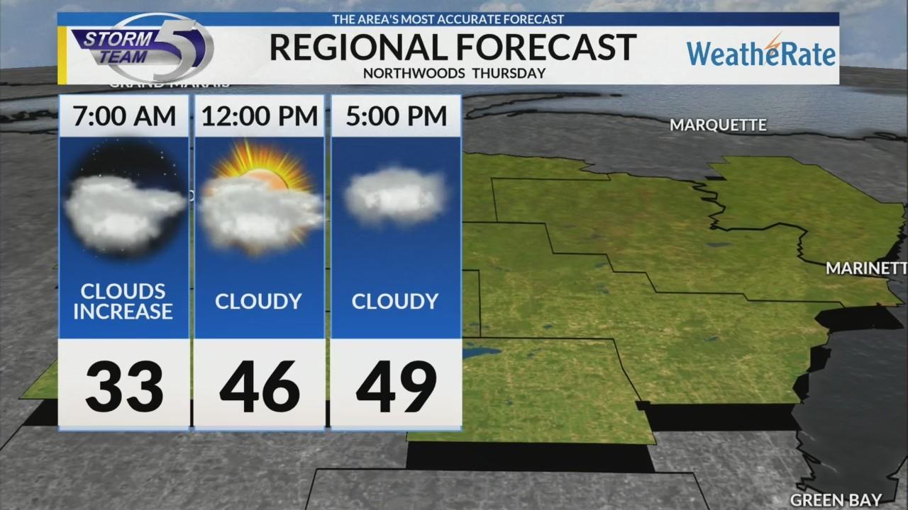 Regional Forecast: Northwoods 10/25/2018