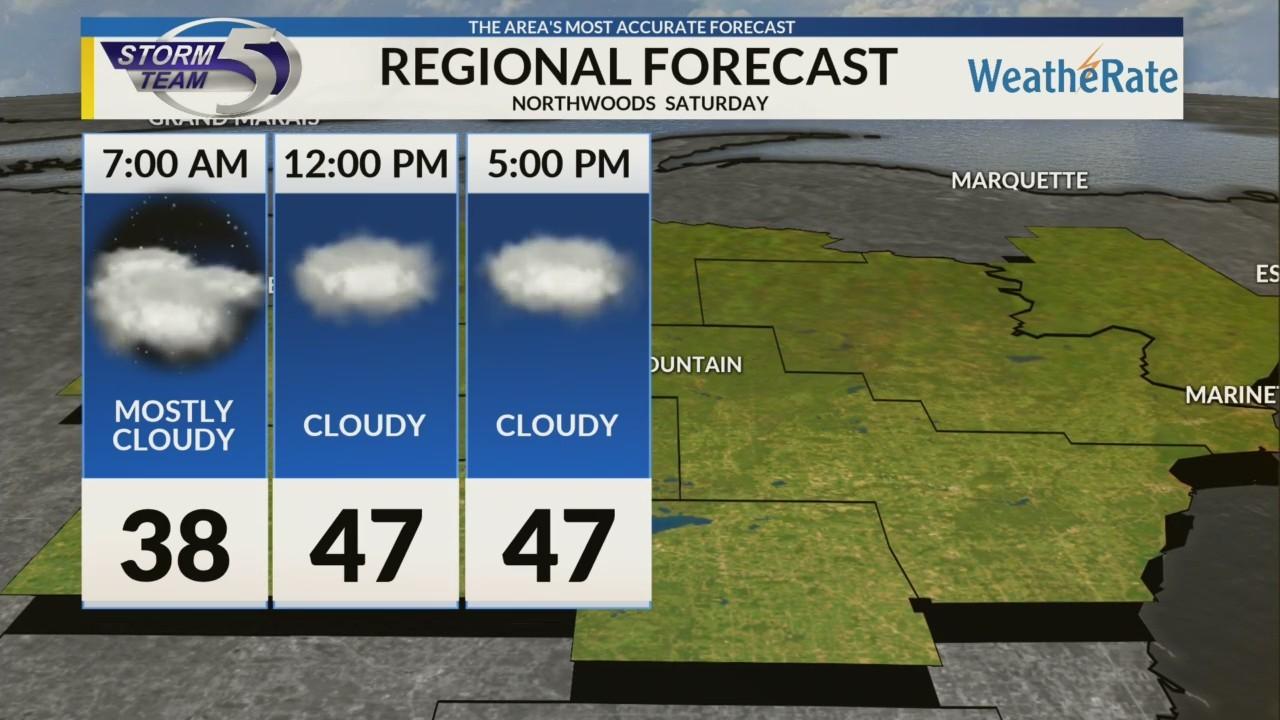 Regional Forecast: Northwoods 10/27/2018