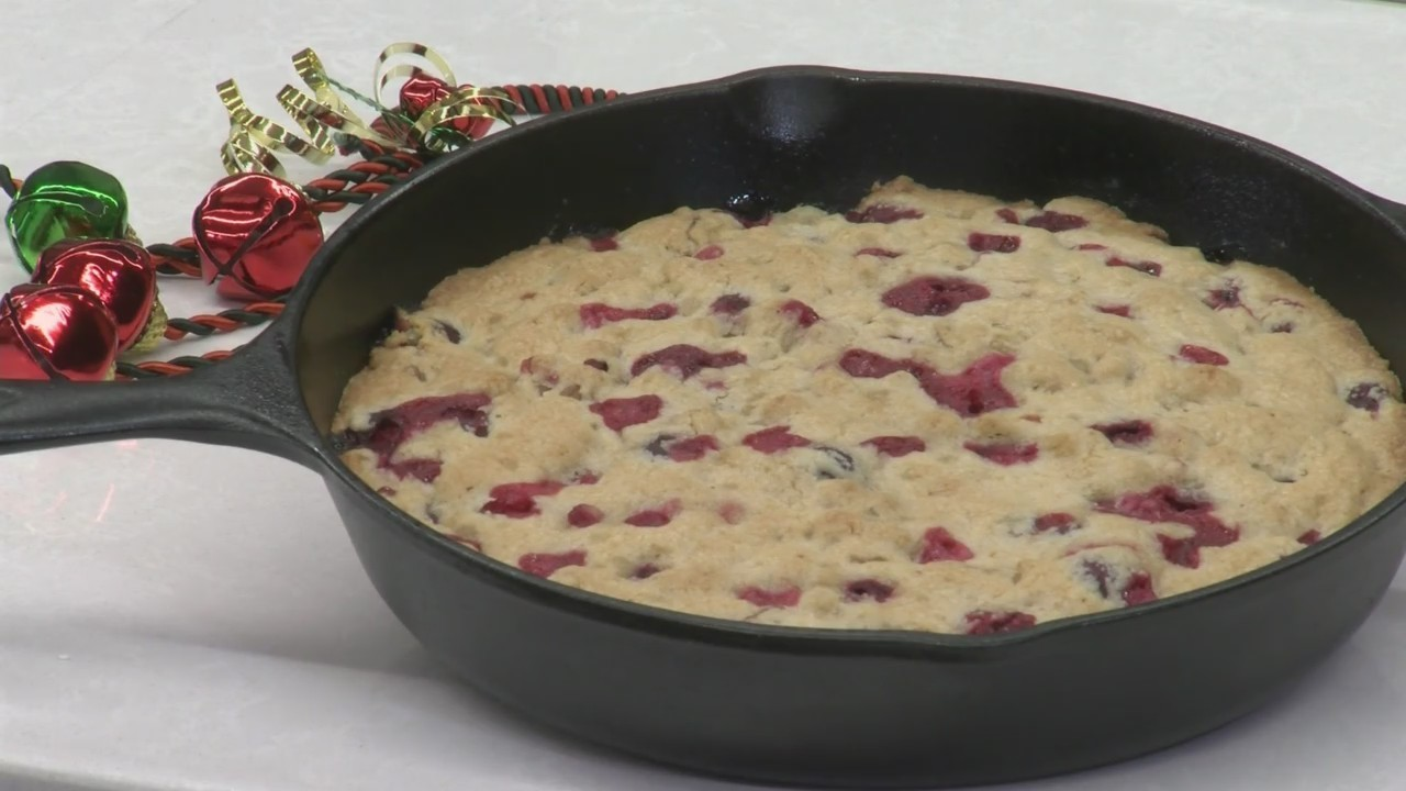 Crust-less Cranberry Pie
