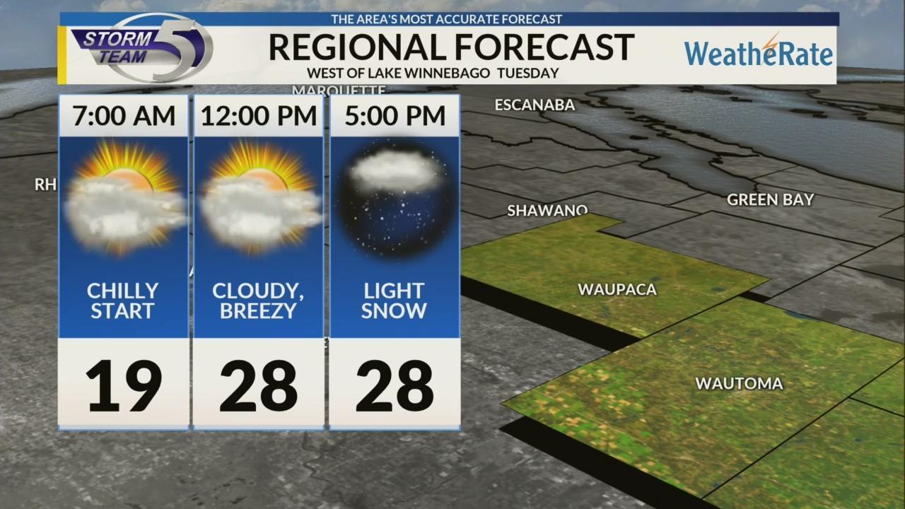 Regional Forecast: Areas West of Lake Winnebago 11/20