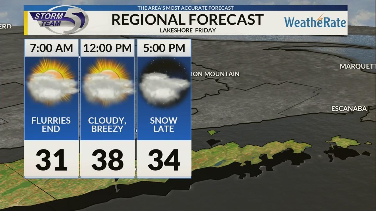 Regional Forecast: Lakeshore 11/16