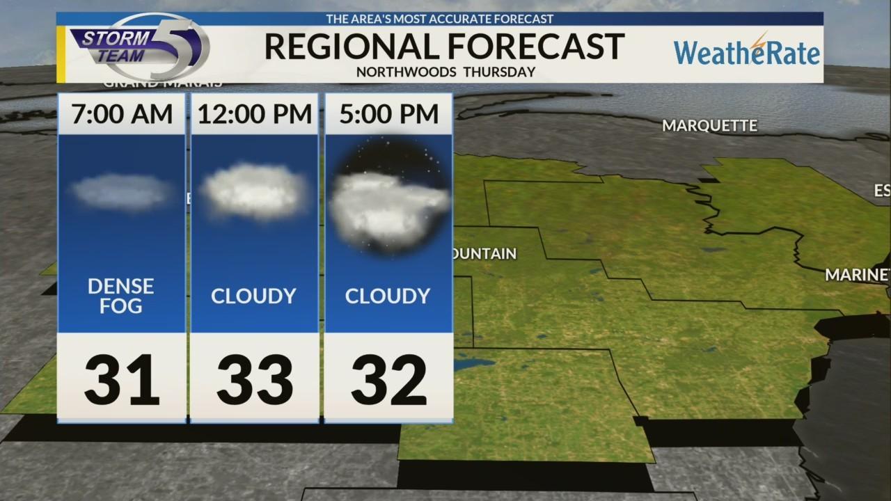 Regional Forecast: Northwoods 12-13