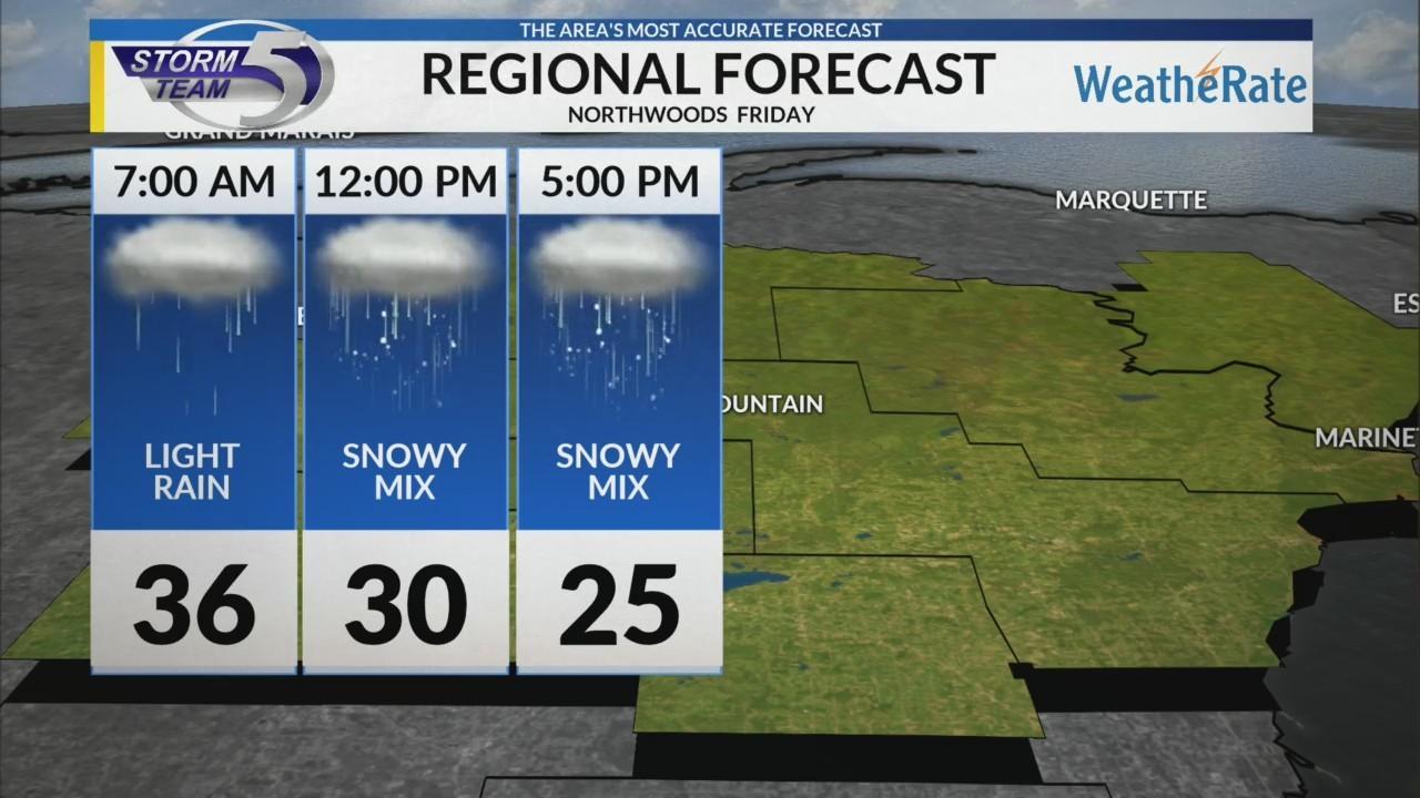 Regional Forecast: Northwoods 12/28/2018