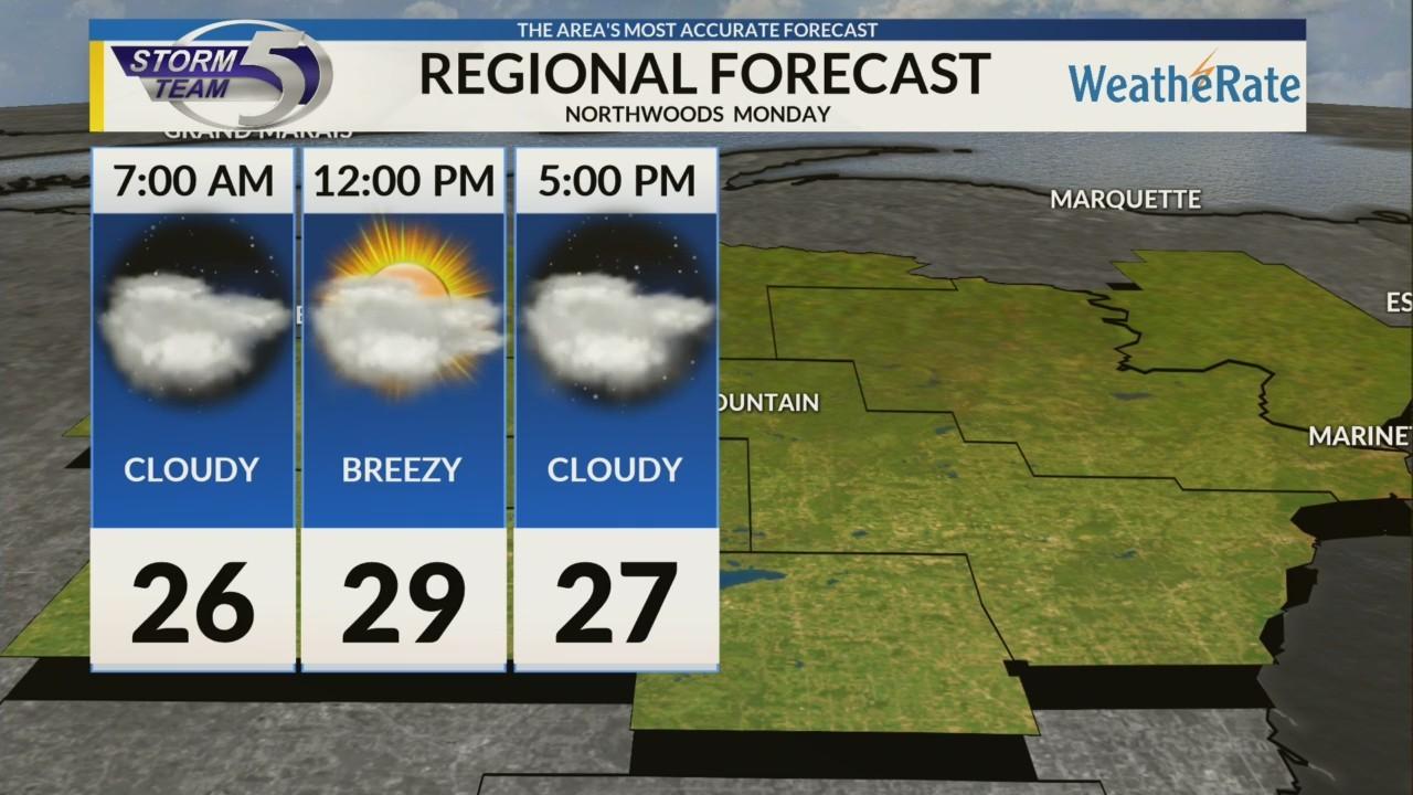 Regional Forecast: Northwoods 12/3