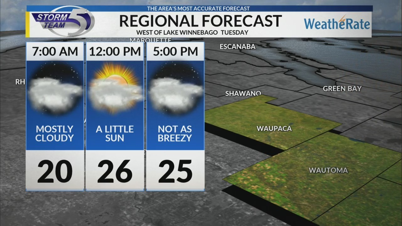 Regional Forecast: West of Lake Winnebago 12-4