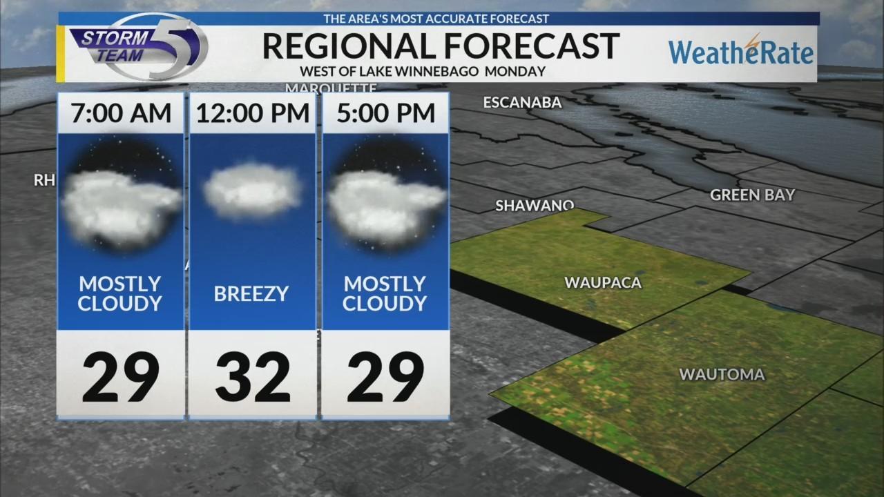 Regional Forecast: West of Lake Winnebago 12-3