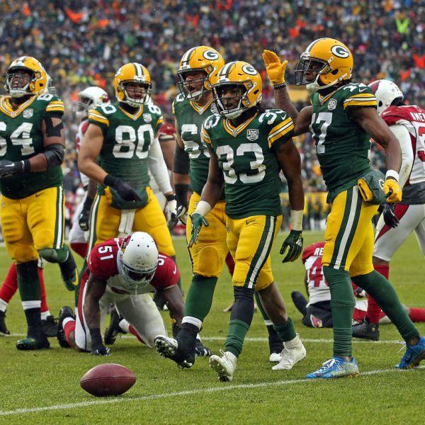 Packers Aaron Jones vs Cardinals