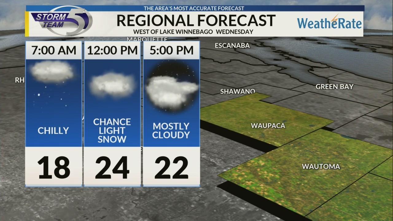 Regional Forecast: Areas West of Lake Winnebago 1/2