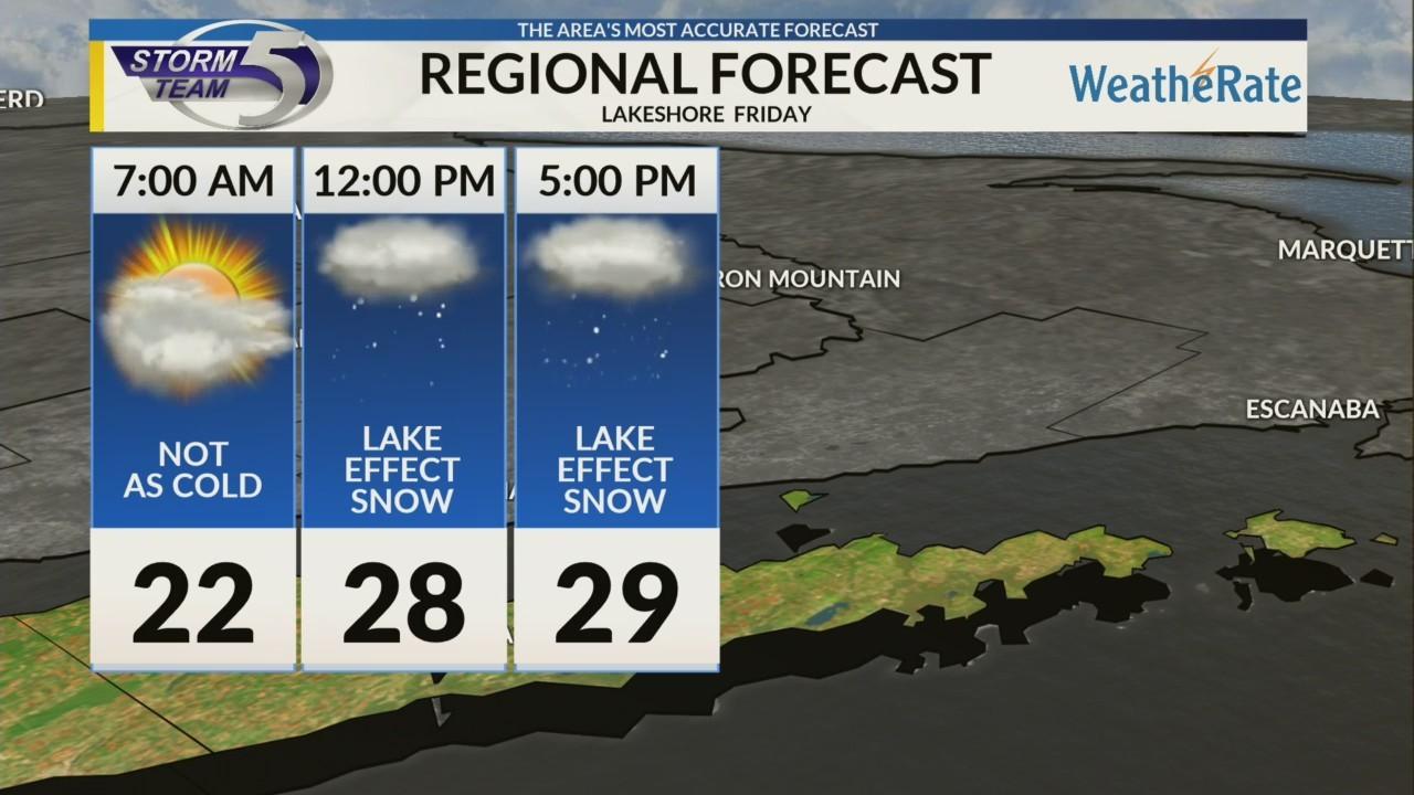 Regional Forecast: Lakeshore 1/11