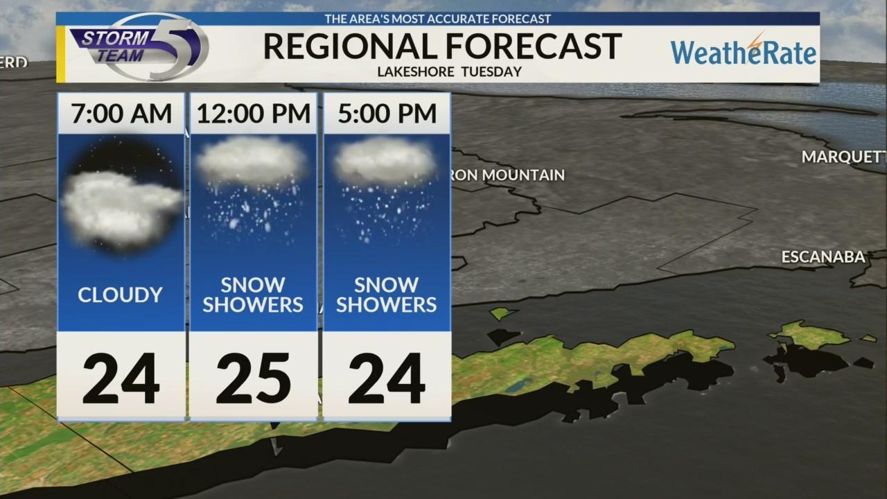 Regional Forecast: Lakeshore 1/22