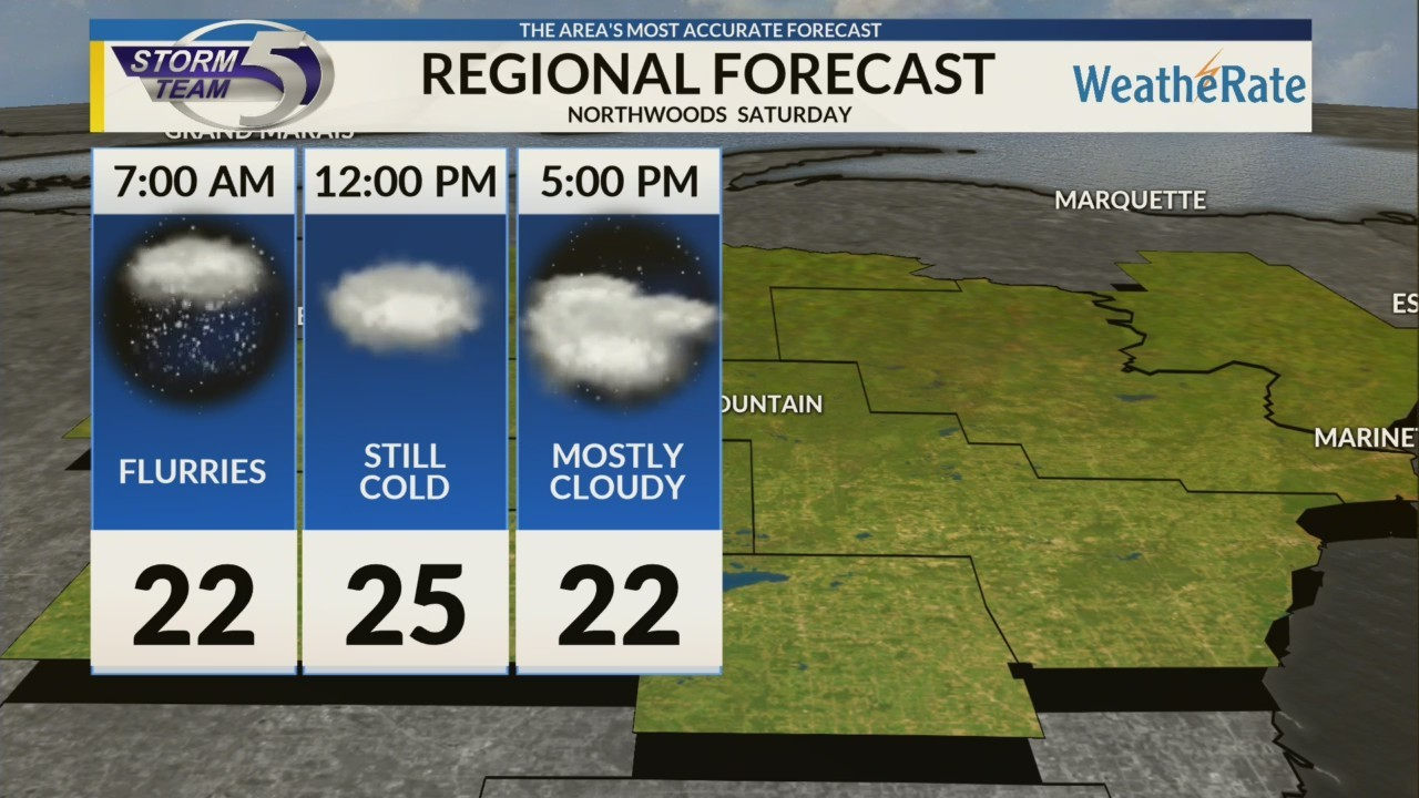 Regional Forecast: Northwoods 1/12/2019