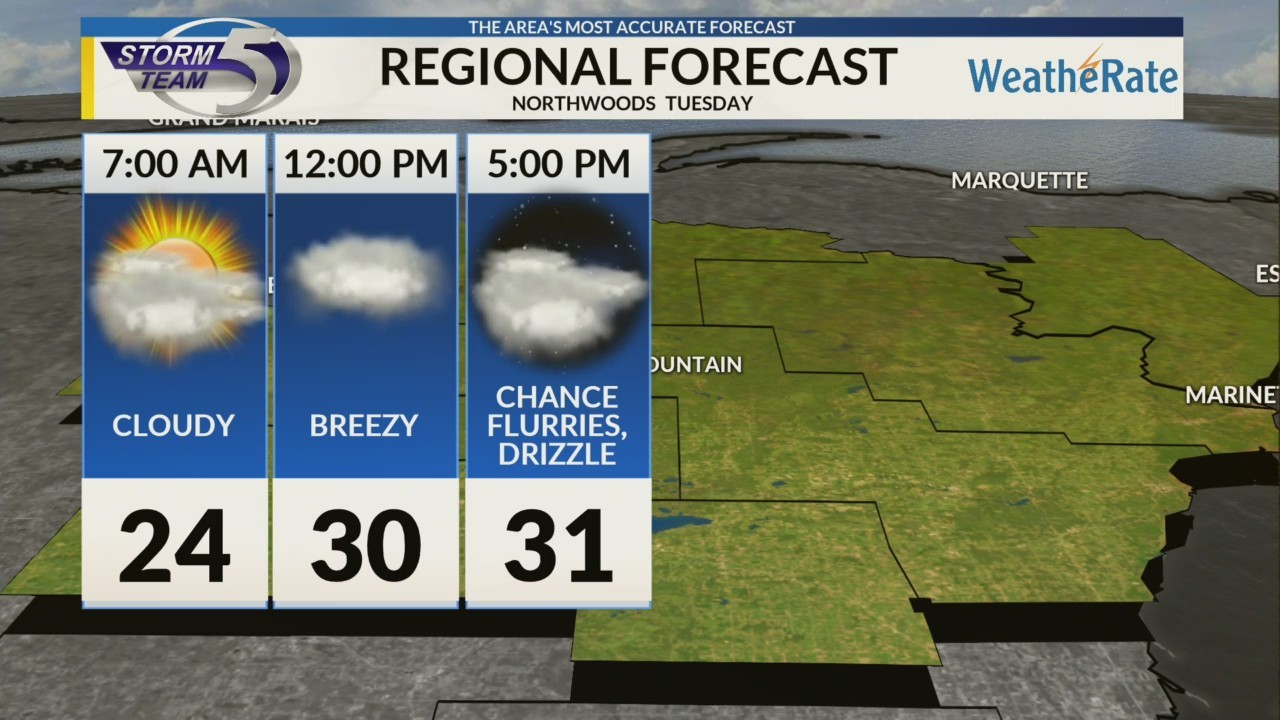 Regional Forecast: Northwoods 1/15