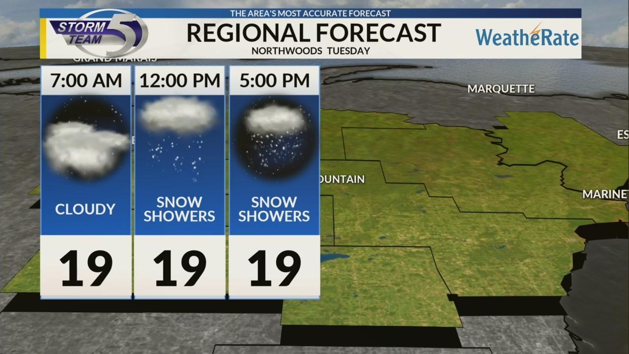 Regional Forecast: Northwoods 1/22