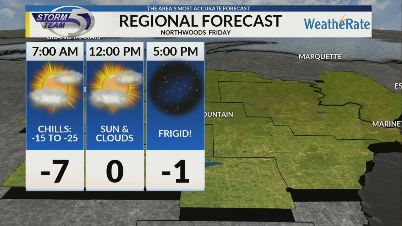 Regional Forecast: Northwoods 1/25