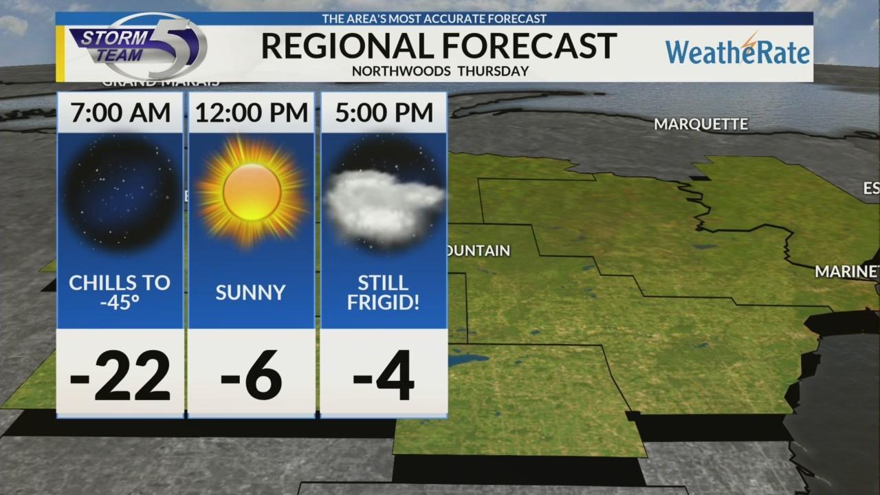 Regional Forecast: Northwoods 1/31