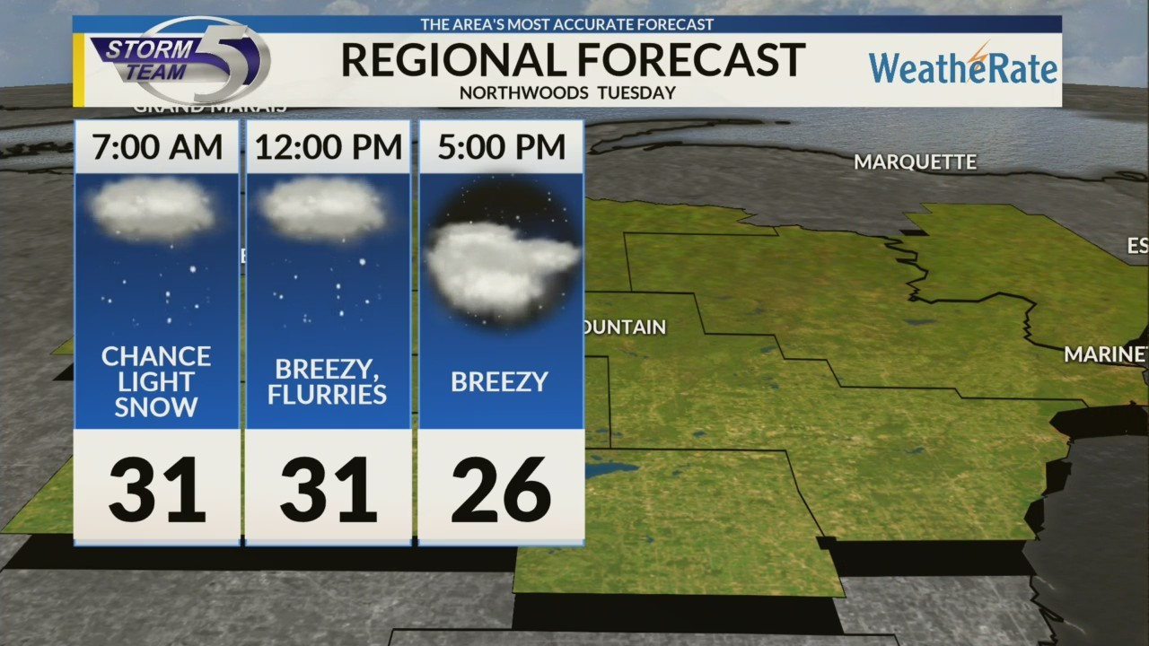 Regional Forecast: Northwoods 1/8