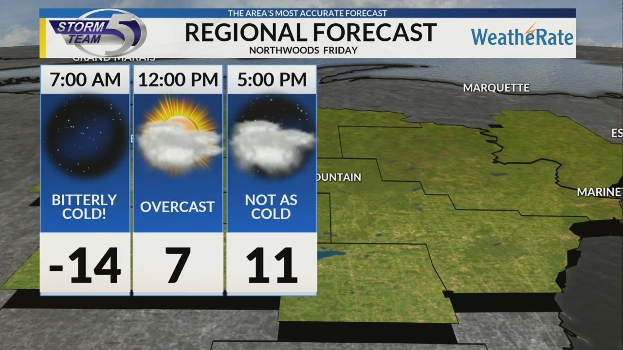 Regional Forecast: Northwoods 2/1/2019