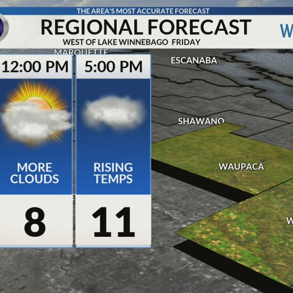 Regional Forecast: Areas West of Lake Winnebago 2/1
