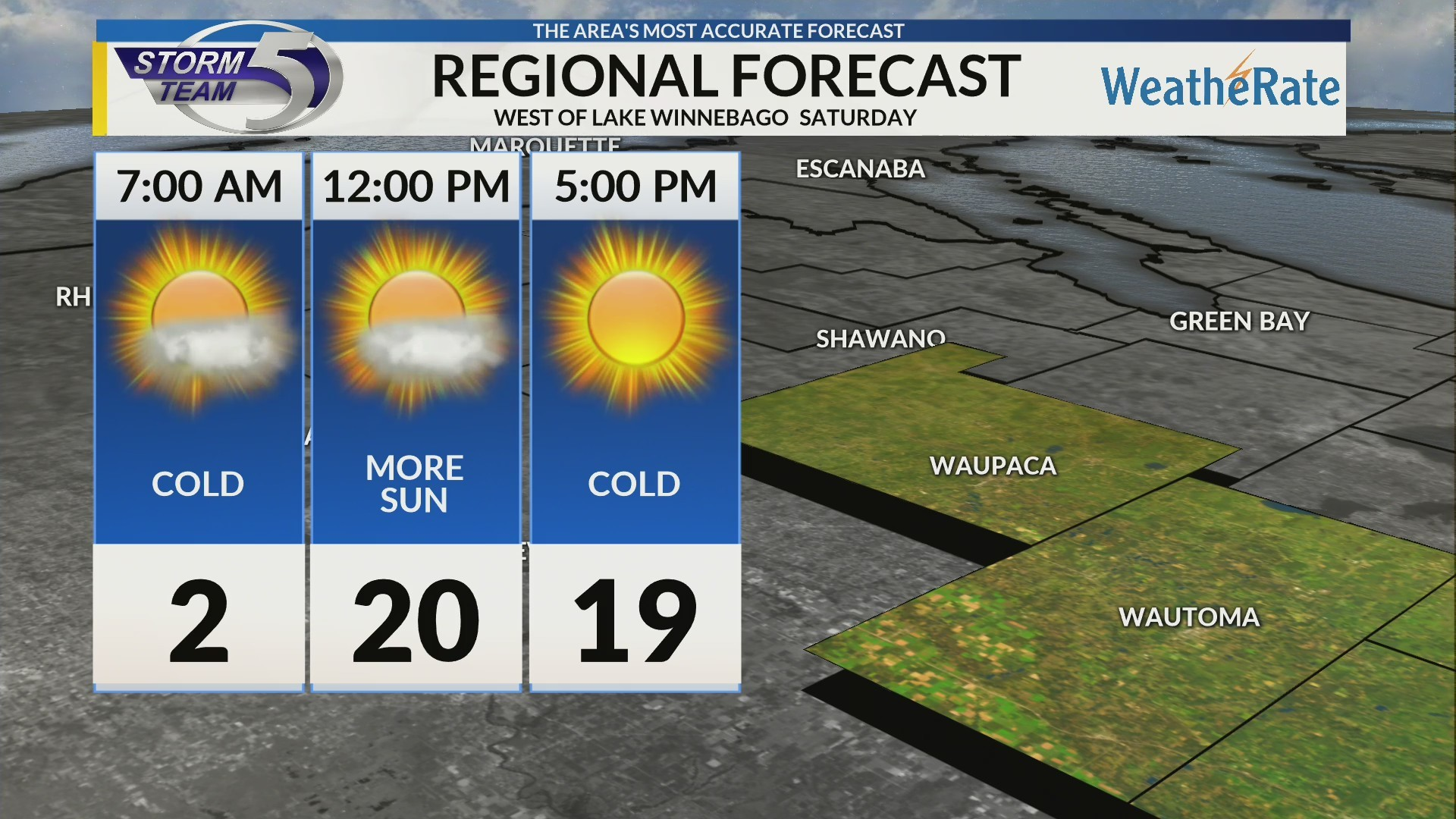 Regional Forecast: Central WI 2/16/2019