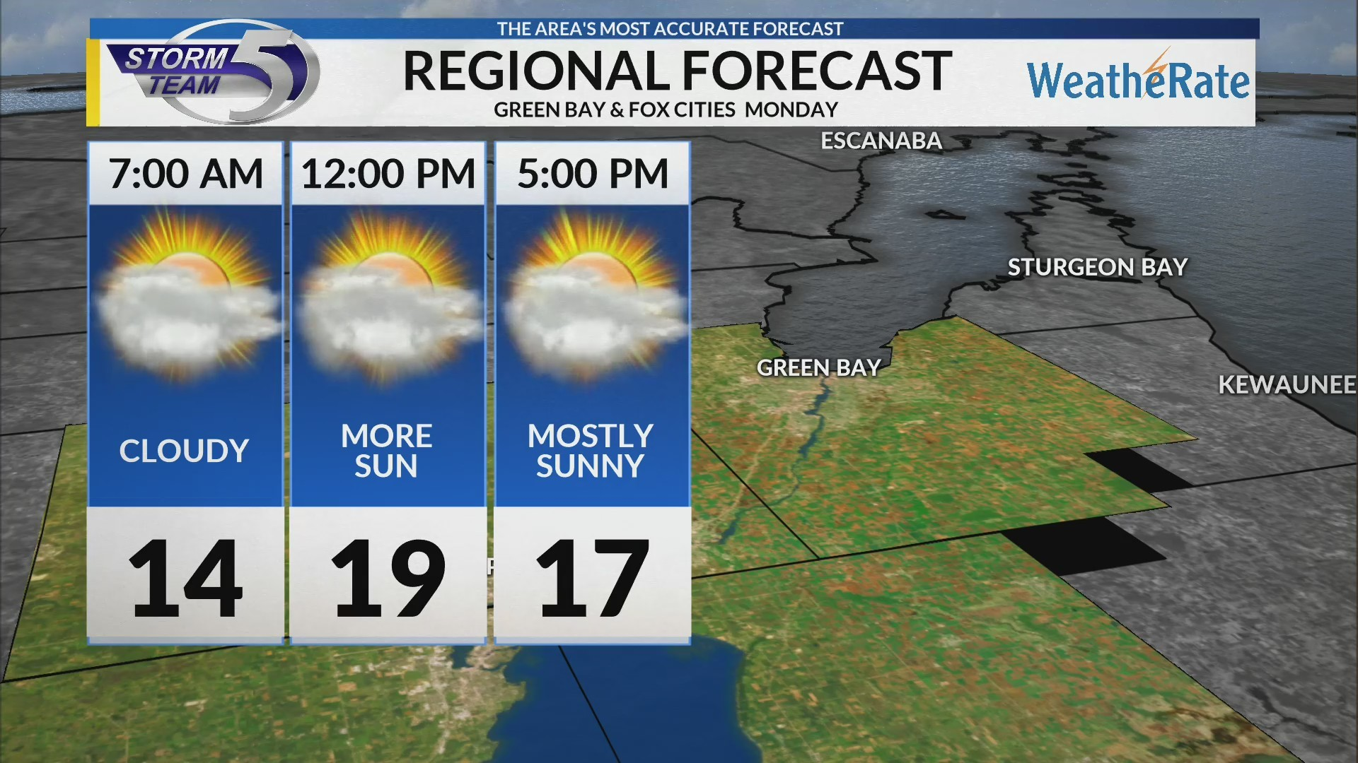 Regional Forecast: Green Bay and the Fox Cities 2-18