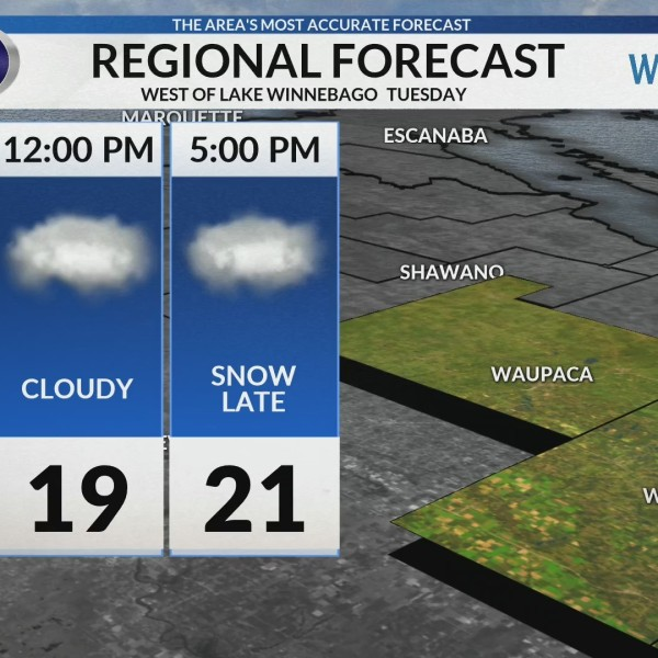 Regional Forecast: West of Lake Winnebago 2-5