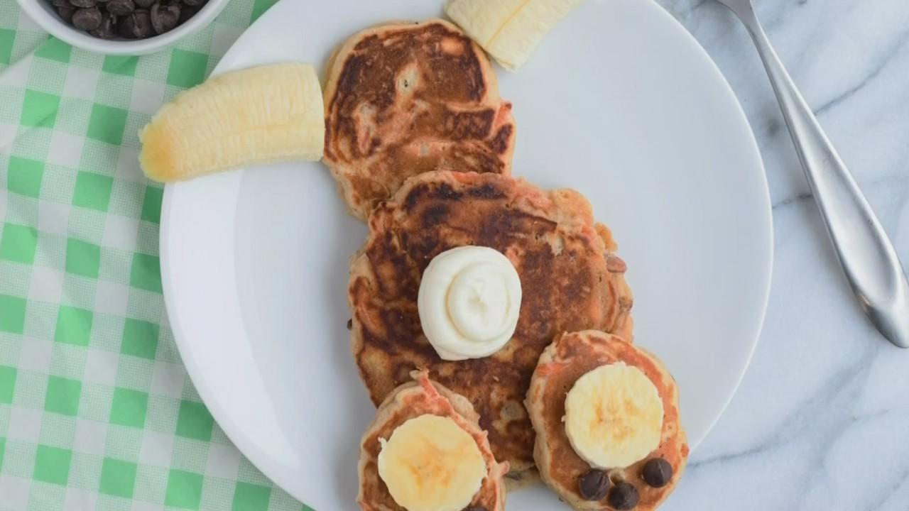Bunny Butt Carrot Pancakes