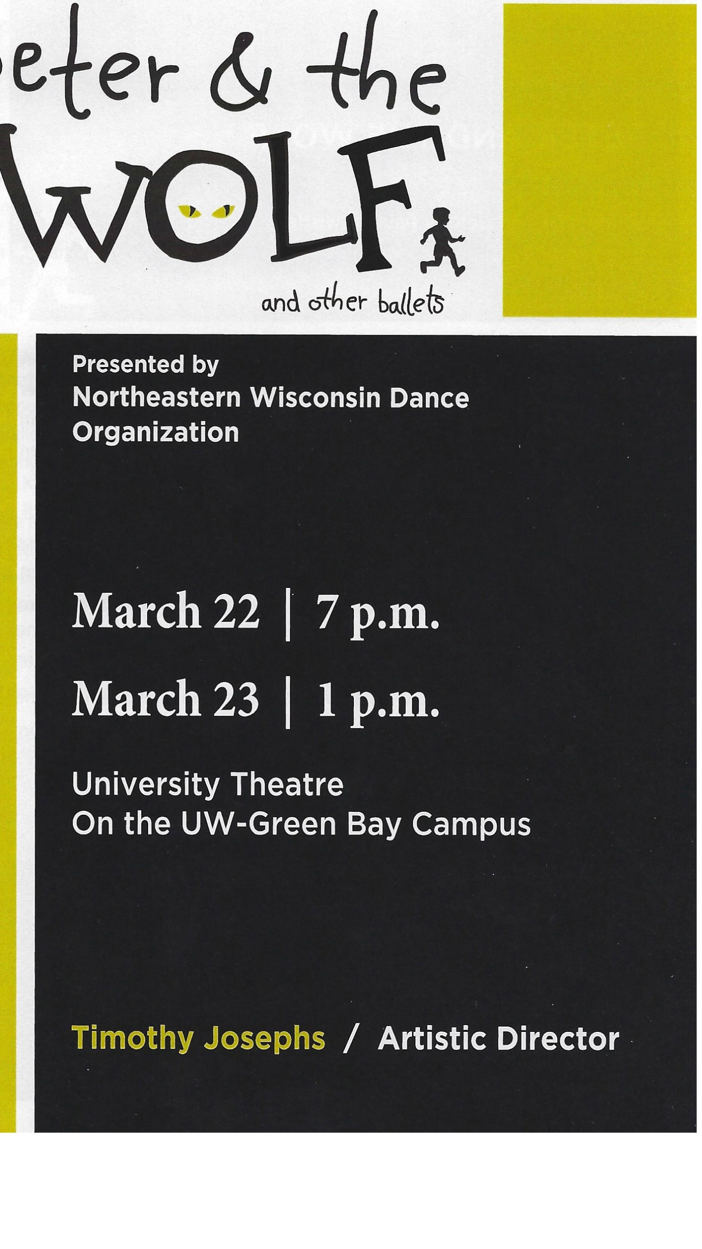 Northeastern Wisconsin Dance Organization Peter and the Wolf and other ballets program cover_1553348954966.jpg.jpg