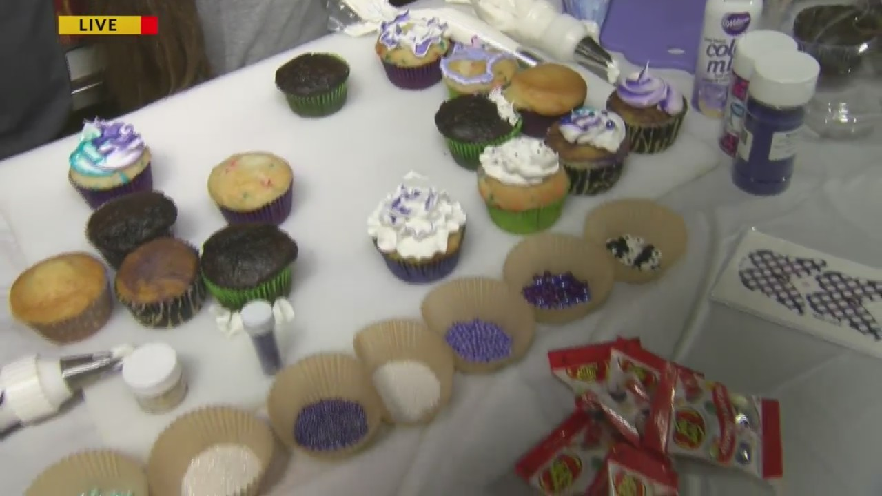 Purple Cupcakes for Epiliepsy