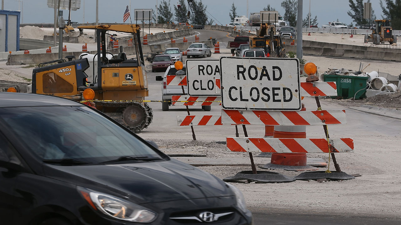 road closed signs in Florida, road construction65858927-159532