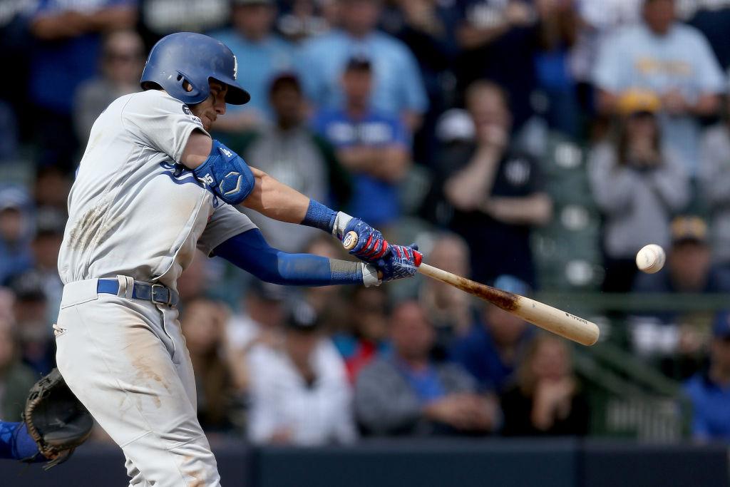 Dodgers Bellinger Hits Home Run Off Hader