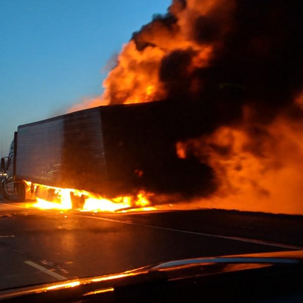 I-41 Semi Fire