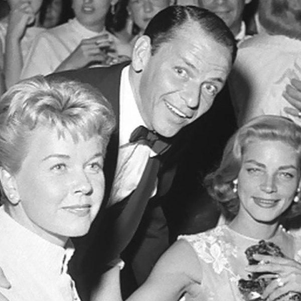 Doris Day, Frank Sinatra, Lauren Bacall in 195699395185-159532