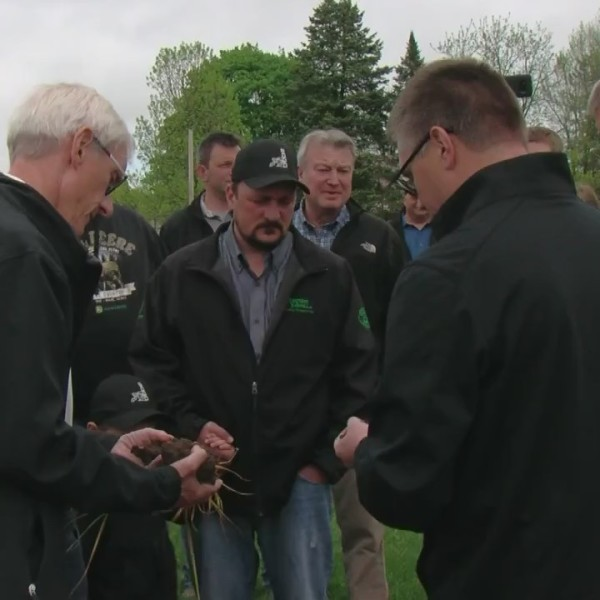 Gov. Evers visits Kewaunee County Farm