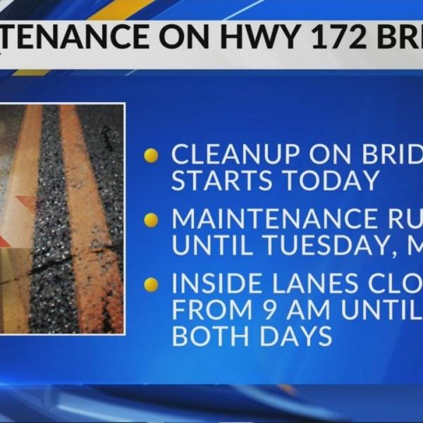 Spring work begins on HWY 172 in Brown County