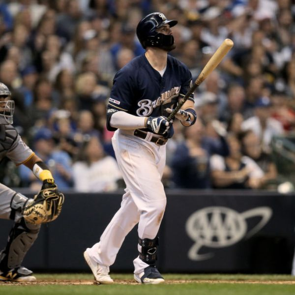 Brewers Mike Moustakas homers against Pirates