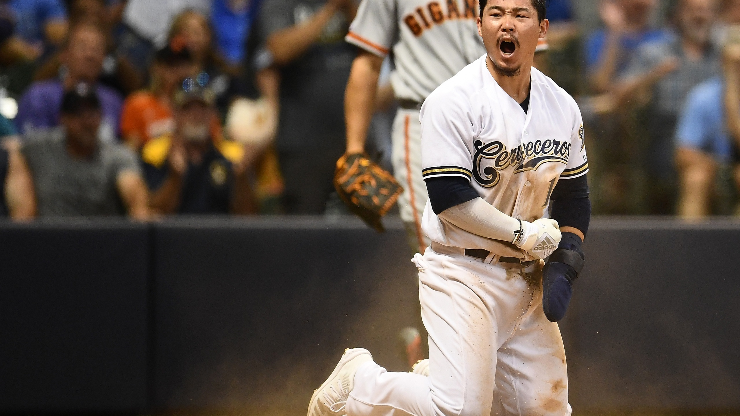 keston hiura named nl player of week