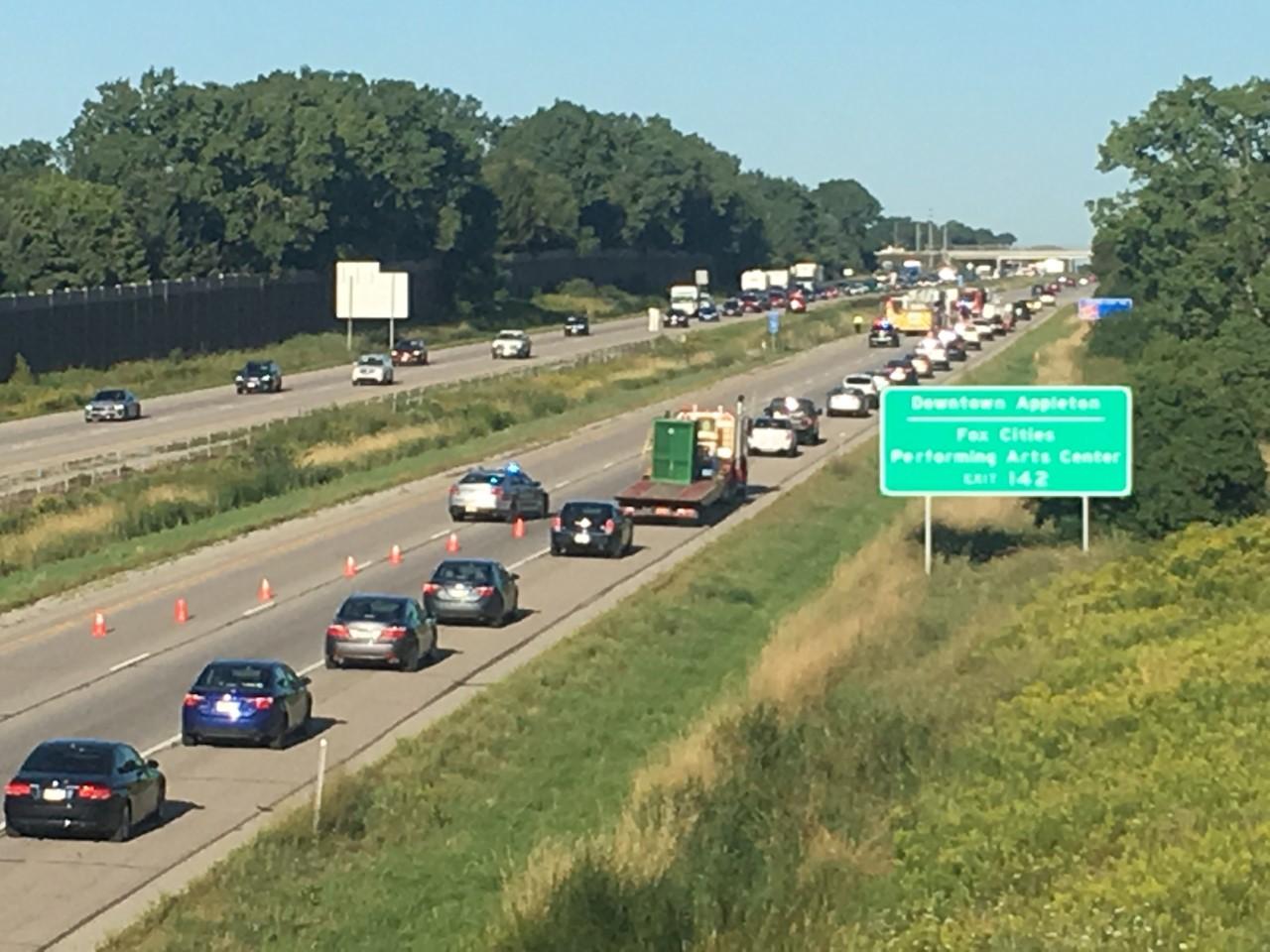 I-41 SB closed, police on scene of crash