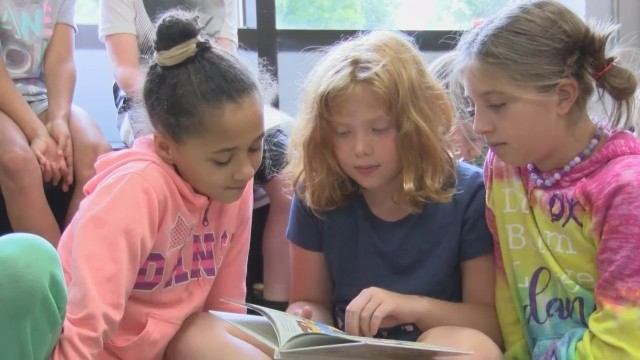 Hitting the books: teachers, students at area school work to create library