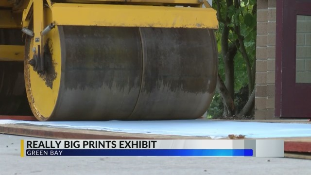Art made with help of street roller on display at UW-Green Bay