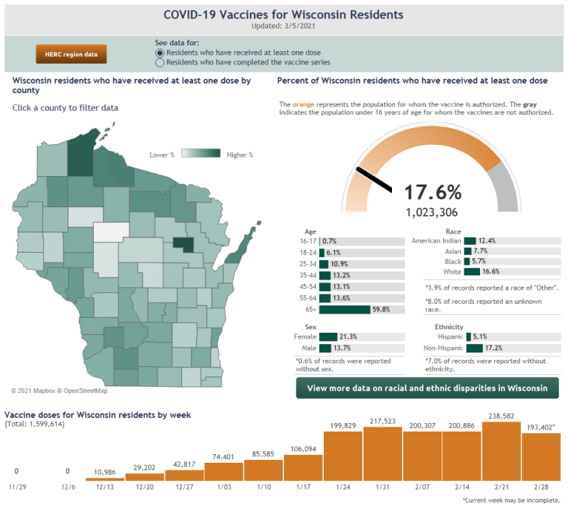 This image has an empty alt attribute; its file name is VaccinatedWisconsin-County-4.png