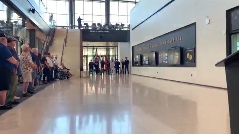 Veterans Storytelling Wall at Resch Expo
