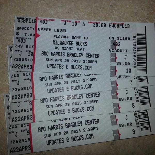 Milwaukee Bucks game tickets