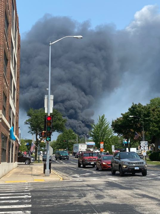 Five counties assisting with fire in southern Wisconsin, residents asked to evacuate
