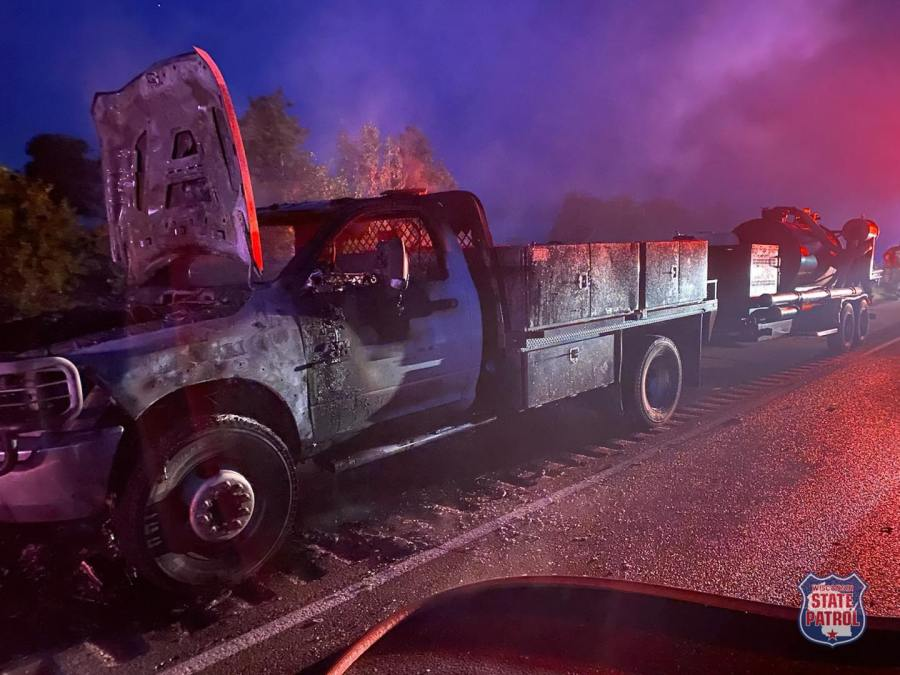 Vehicle catches fire in western Wisconsin, driver noticed smoke before pulling over