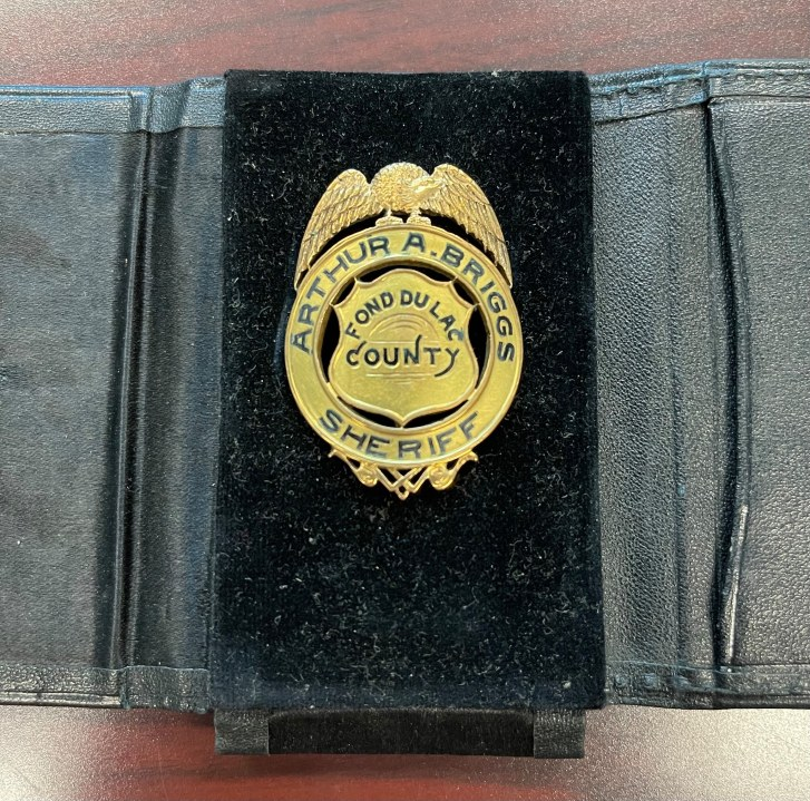 Piece of history from Fond du Lac Co. Sheriff's Office found in Oshkosh bank