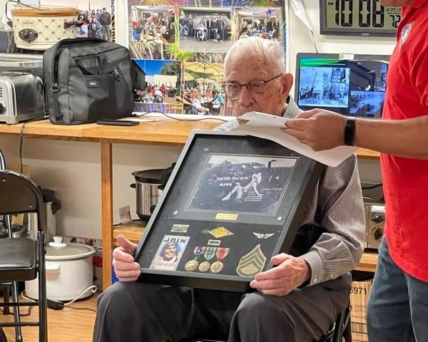WWII veteran Arden Mattice receives medals decades after losing them. (WFRV)