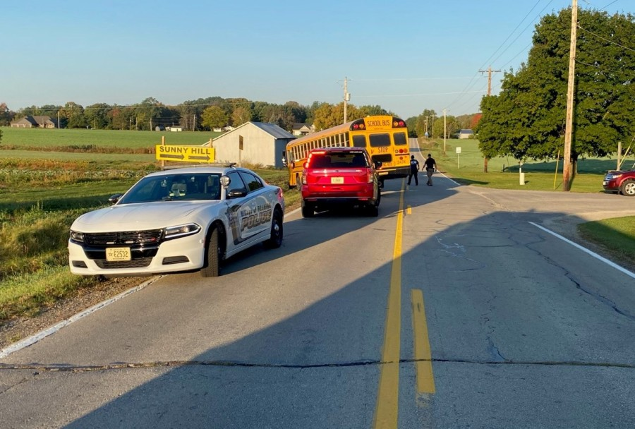 Two Bay Port students involved in crash with school bus, no injuries reported