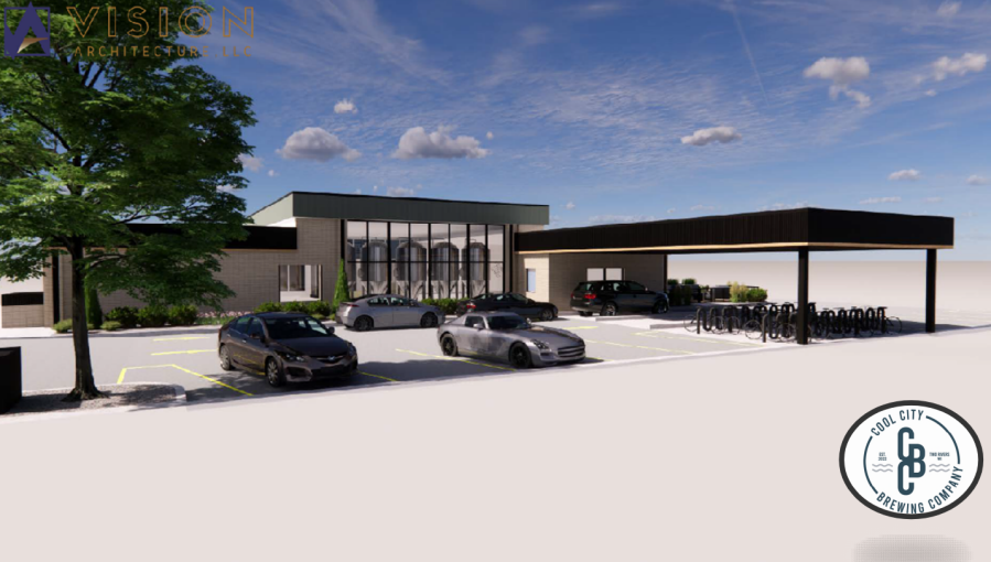 Renderings of the Cool City Brewing Company coming to downtown Two Rivers in summer 2022. (HANDOUT)